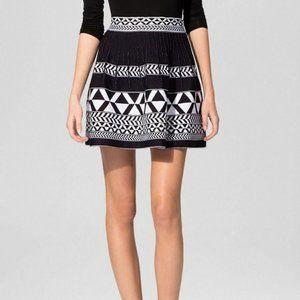 Maje Justin Geometric Skater Knit Mini Skirt S